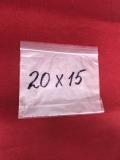 Пакеты полиэтиленовые струна с замком zip-lock 200x150мм